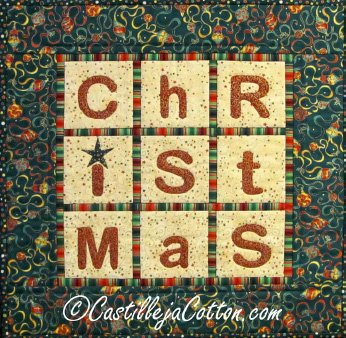 Christmas 9 Patch Quilt Epattern by Castilleja Cotton