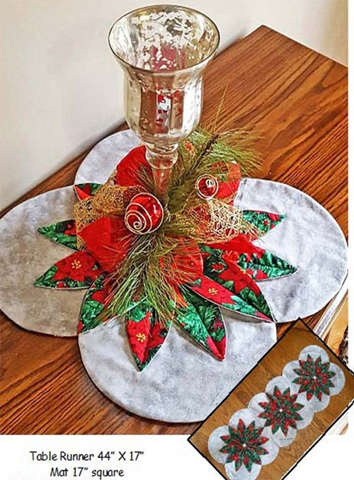 Christmas Magic Table Set Table Runner and Table Mat Pattern by Sisters' Common Thread