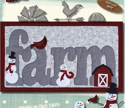 Winter on the Farm Wallhanging Pattern by Patchabilities
