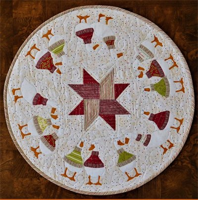 Christmas Quackers Table Round Pattern by Trouble & Boo