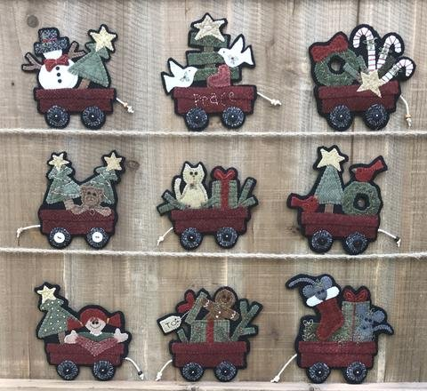 Christmas Wagons Gift Tag Patterns by Wooden Spool Designs