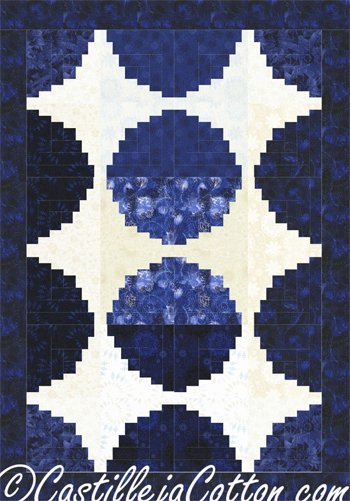 Circle Log Cabin Quilt Pattern by Castilleja Cotton