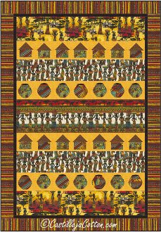 African Sunset Quilt Pattern by Castilleja Cotton