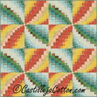 Bargello Pinwheel Quilt Pattern by Castilleja Cotton