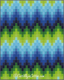 Bargello Waves Quilt Pattern by Castilleja Cotton