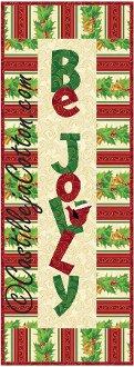 Be Jolly Wall Quilt Pattern by Castilleja Cotton