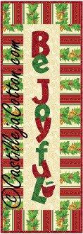 Be Joyful Wall Quilt Pattern by Castilleja Cotton