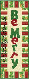 Be Merry Wall Quilt Pattern by Castilleja Cotton