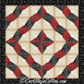 Curling Log Cabin Quilt Pattern by Castilleja Cotton