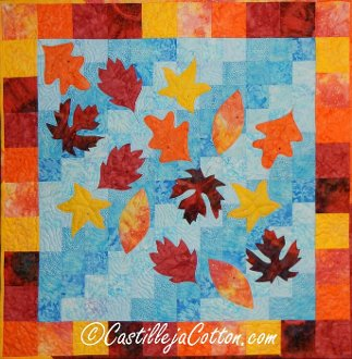 Leaves on a Pond Quilt EPattern by Castilleja Cotton
