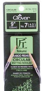 Clover Takumi Bamboo 9in Circular Knitting Needles
