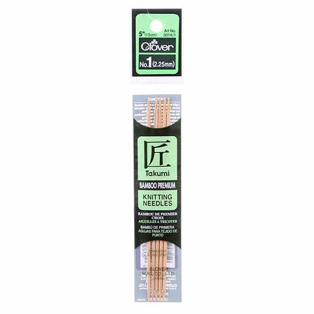 Clover Takumi Bamboo 5 in Double Point Knitting Needle
