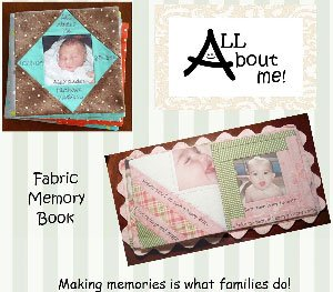 All About Me Fabric Memory Book Pattern by Cut Loose Press