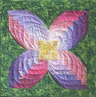 Cabin Flower Table Topper Pattern by Cut Loose Press