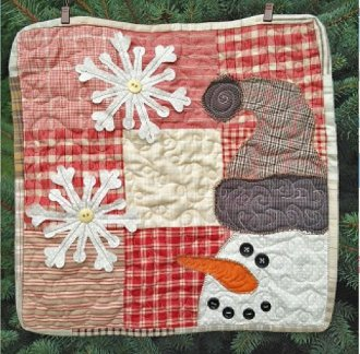 Charming Snowman Hot Pad or Place Mat Pattern by Cut Loose Press