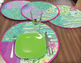 Dinner in the Round Placemats and Coasters Pattern by Cut Loose Press