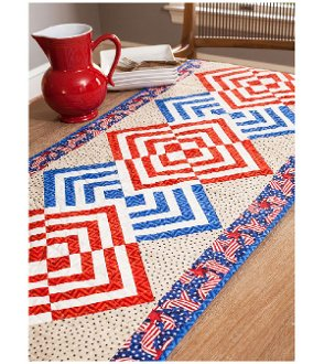 Glory in the Cabin Table Runner Pattern by Cut Loose Press