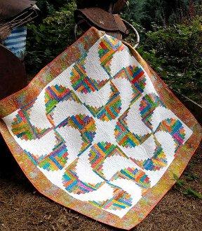 Rainbow Swirls Quilt Pattern by Cut Loose Press