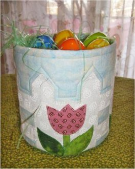 Tulips by the Fence Basket Pattern by Cut Loose Press