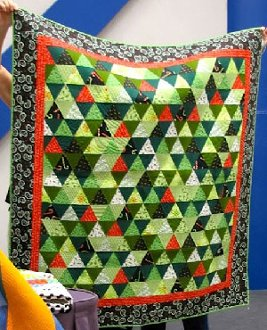 Christmas Pyramids Quilt Pattern by Cactus Needle Quilts
