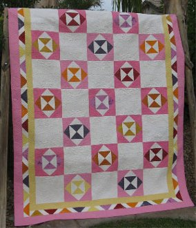 Hourglass Squared Quilt Pattern by Cactus Needle Quilts