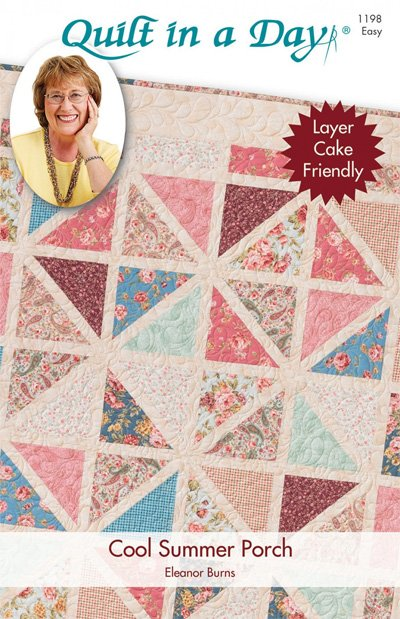 Cool Summer Porch Quilt Pattern by Quilt in a Day