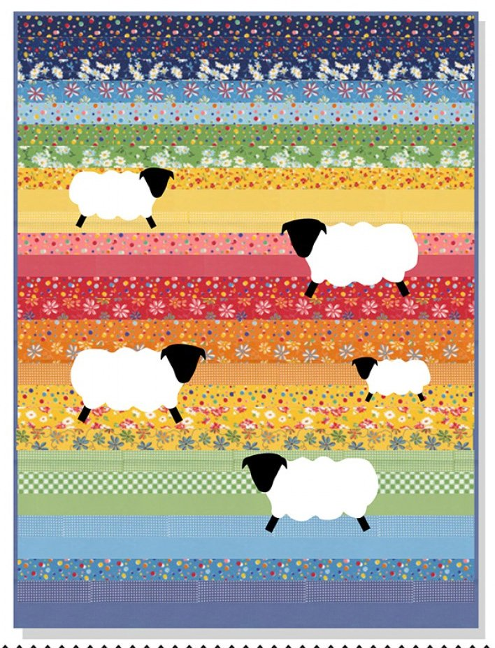 Counting Sheep Quilt Pattern by American Jane Patterns