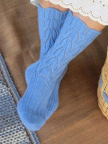 Country Girl Socks Knitted Pattern by Heartstrings