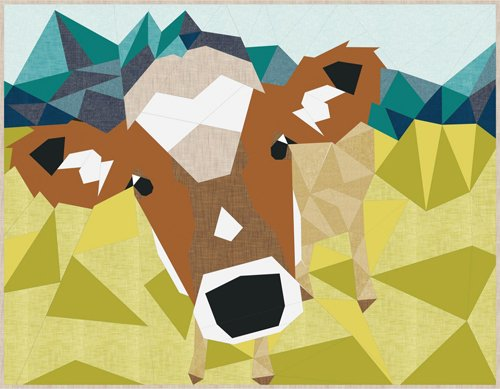 Cow Abstractions Foundation Piecing Quilt Pattern by Violet Craft