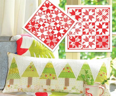 Cozy Christmas Duet Pillow or Table Topper Pattern by Fig Tree & Co