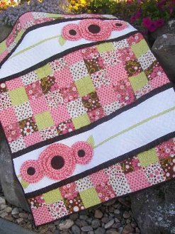 Pocket Of Posies Quilt Pattern.Pocket Full Of Posies Baby Girl Quilt Pattern By Cute Quilt