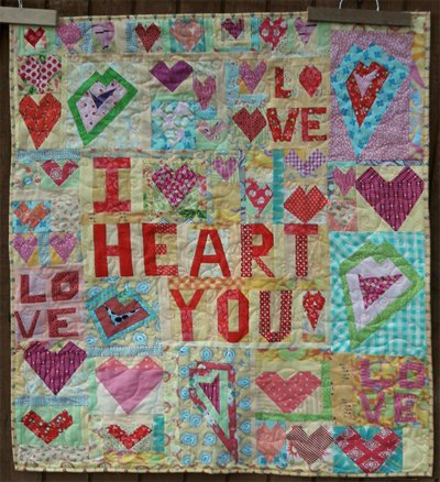 Crazy Love Wallhanging Pattern by Aunt Ems Quilting