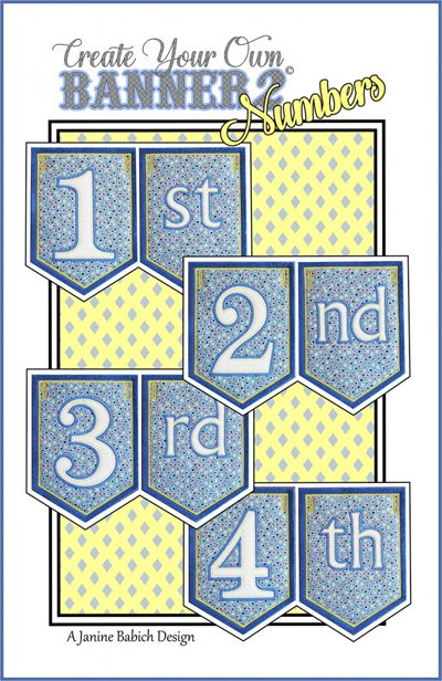Create Your Own Banner 2 - Numbers Pattern by Janine Babich Design