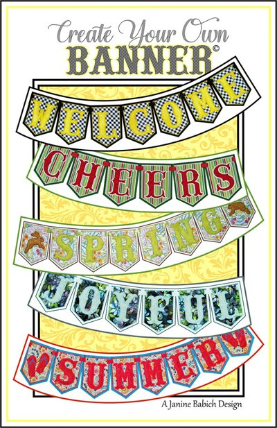 Create Your Own Banner - Letters Pattern and Embroidery DVD by Janine Babich Design