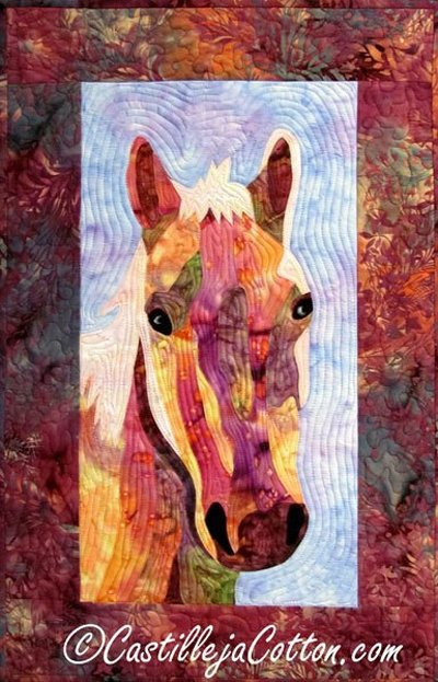 CrookShank the Horse Art Quilt EPattern by Castilleja Cotton