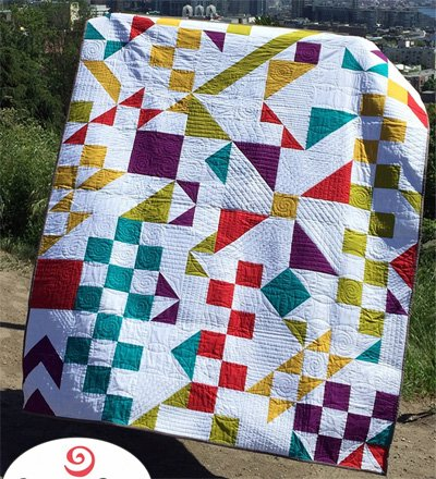 Cryptic Quilt Pattern by Swirly Girls