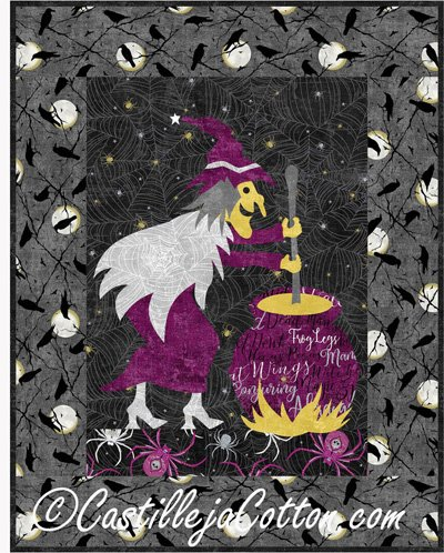 Crystal Witch Quilt Epattern by Castilleja Cotton