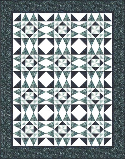 Crystalline Quilt Pattern by Needle in a Hayes Stack