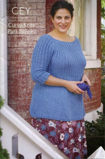 Curvy Knits Park Street Knitting Pattern Book 9113 By Classic Elite Yarns