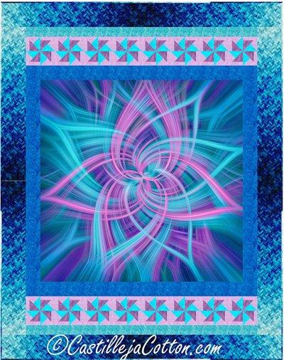 Dancing Pinwheels Quilt Pattern by Castilleja Cotton