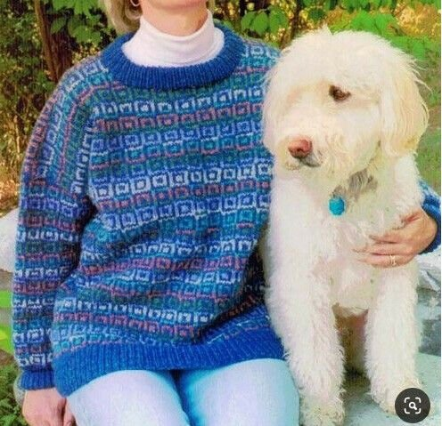 Dancing Squares Fair Isle Knitting Pattern by Cabin Fever #205