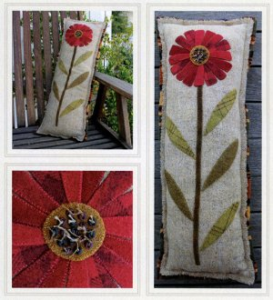A Single Stem Pillow Pattern by The Cottage at Cardiff Farms