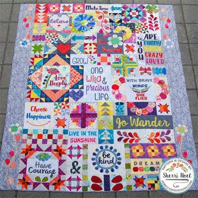 Dear Daughter Block of the Month Sampler Quilt Pattern by Rebecca Mae Designs
