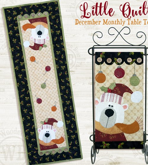 December White Christmas Applique Pattern and Button Packs by The Wooden Bear