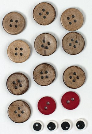 January Blizzard Buddies Button Pack for Tablerunner by The Wooden Bear