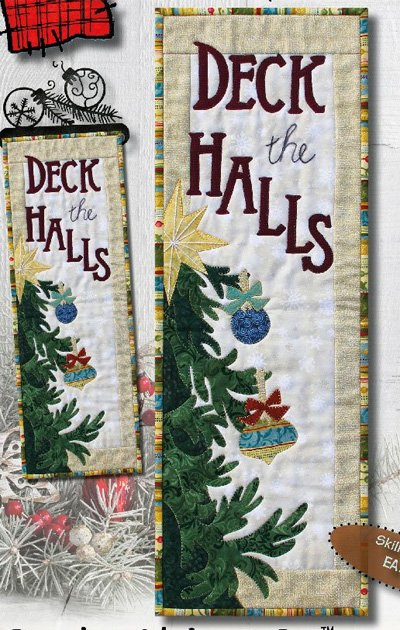 Deck the Halls Wallhanging/Banner Pattern by Patchabilities