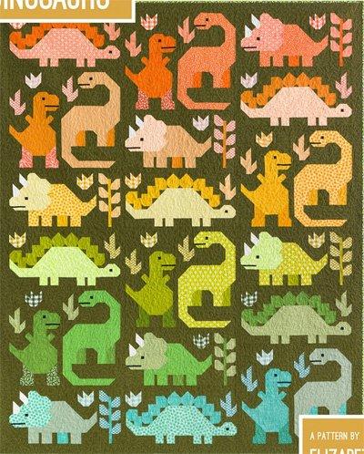 Dinosaurs Quilt Pattern in 2 Sizes by Elizabeth Hartman