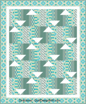 Directions Quilt Pattern in 2 Sizes by Quilt Design NW