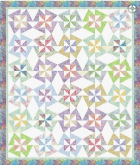 Dancing Flowers Quilt Pattern in 3 Sizes by Cindi McCracken
