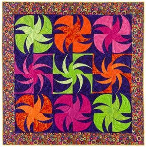 Whirling Wheelies Quilt Pattern and Templates by Doodle Press Designs